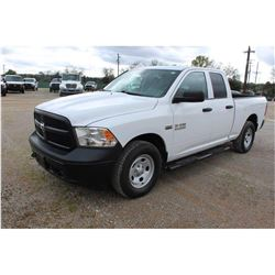 2015 RAM 1500 PICKUP TRUCK --VIN/SN:1C6RR7FT3FS757762 ::4X4, EXT. CAB, V8 GAS, A/T, 72,780 MILES