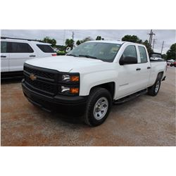 2015 CHEVROLET 1500 PICKUP TRUCK --VIN/SN:1GCRCPEC8FZ207640 ::EXT. CAB, V8 GAS, A/T, 56,744 MILES