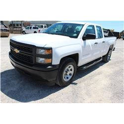 2015 CHEVROLET 1500 PICKUP TRUCK --VIN/SN:1GCRCPEC7FZ215566 ::EXT. CAB, V8 GAS, A/T, 60,158 MILES