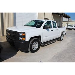 2015 CHEVROLET 1500 PICKUP TRUCK --VIN/SN:1GCRCPEC4FZ209787 ::EXT. CAB, V8 GAS, A/T, 60,282 MILES