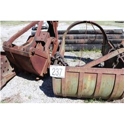 DRAGLINE BUCKETS, SPUD W/POCKETS, SECTIONAL BARGE BOW/RAKES
