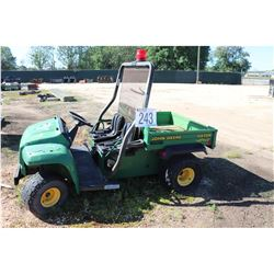 JOHN DEERE GATOR UTV, DUMP BED, ROLL BAR