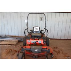 KUBOTA ZD21F LAWN MOWER ZERO TURN, 60'' DECK, DIESEL, ROLL BAR, 840 HOURS