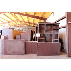 DESKS, CREDENZAS, BOOKCASES