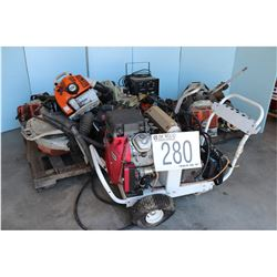 CHAIN SAWS, BLOWERS, GRASS TRIMMERS, GAS PRESSURE WASHER
