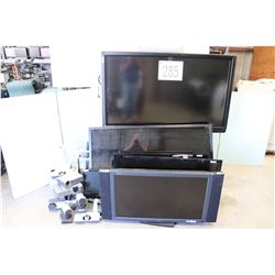 FLAT SCREEN TVS, COLOR MONITORS, PROJECTORS, VIDEO CONFERENCING CODEC, TV STAND