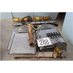 WHEEL PORTABLE SCALES, LIGHTBARS, HYDRAULIC JACKS, PAVEMENT BREAKER