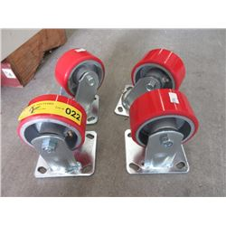 Set 4 New Industrial Casters