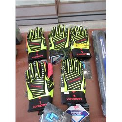 5 Pairs of New RawkTech High Tech Safety Gloves