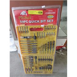 New Pitbull 59 Piece Quick Bit Set