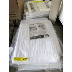 New Heavy Duty 12 x 16 Foot White Tarp