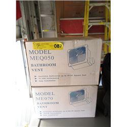 2 New Bathroom Vent Fans - Model MEQ050