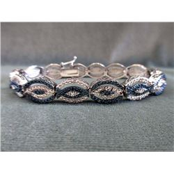 .25 CT Blue & White Diamond Tennis Bracelet