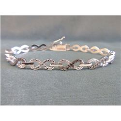 Ladies Diamond Infinity Design Tennis Bracelet