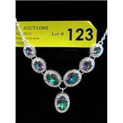 New 70 CT Mystic Topaz Drop Style Necklace