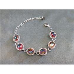 Rainbow Mystic Topaz Bracelet