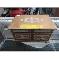 Large 2-Tier Wood Jewelry Box