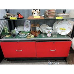 Shelf Lot of China & Other Collectibles