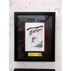 "Richard Shorty Framed Print - ""Up the Creek"""