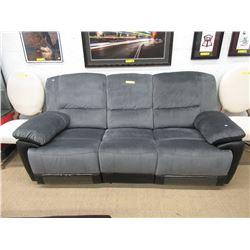 """New 82"""" Grey Fabric Manual Reclining Sofa"""