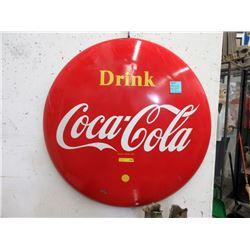 1955 Porcelain Coca-Cola Button - 4 Feet Diameter