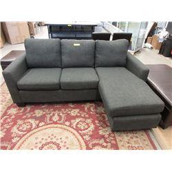 "New 78"" Grey Fabric Sofa"