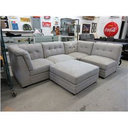 5 Piece Fabric Modular Sectional Sofa