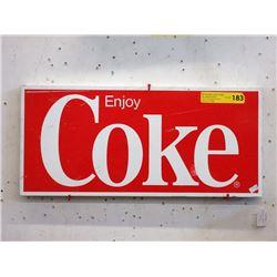 """1960s Steel """"Enjoy Coke"""" Sign"""