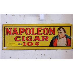 1974 Tin Napoleon Cigar Sign