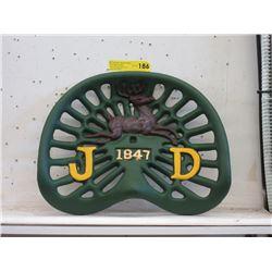 Cast Iron John Deer Tractor Seat