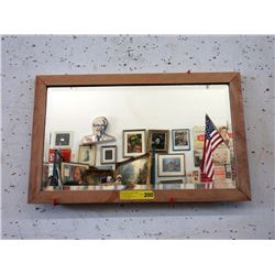 Wood Framed Bevel Glass Mirror