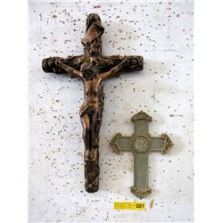 "22"" Crucifix & 11"" Cross"