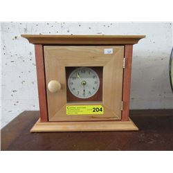 Maple Wood Mantle Clock with Door