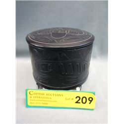 First Nations Black Carved Stone Box