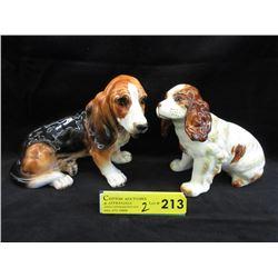 2 Vintage Japanese Porcelain Dogs
