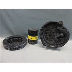 Stone Smoking Set & Hawaiian Ashtray
