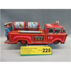 1950/1960s Japanese Tin Lithograph Fire Truck