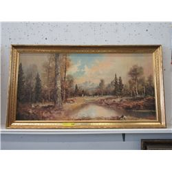 Large Framed Lorenz Print on Board Landscape