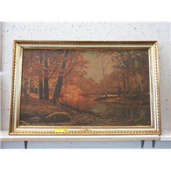 Large Framed Robert Wood Print on Board