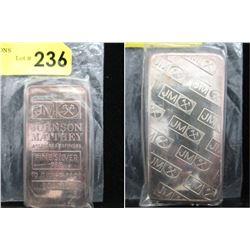 Rare 10Oz Johnson Matthey .999 Silver Bar
