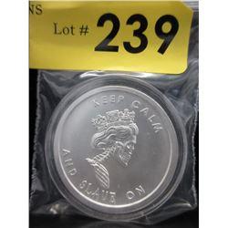 1 Oz Silver Shield Slave Queen .999 Silver Round