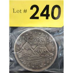 1 Oz Mount St Helen/ Mt Hood .999 Silver Round