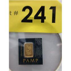 1Gram .9999 Gold Lady Fortuna Bullion Bar
