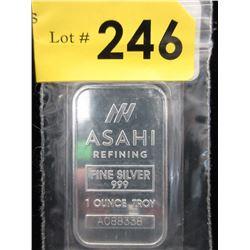 1 Oz.Japanese Asahi .999 Silver Bar