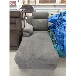 New Grey Fabric Chaise End - Floor Model