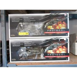 2 Protocol R/C Helicopters - Store Returns