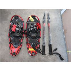 New Mountain Profile 821 Snowshoes with Poles