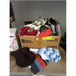 Box of New Socks, Slippers, Stockings & Hats