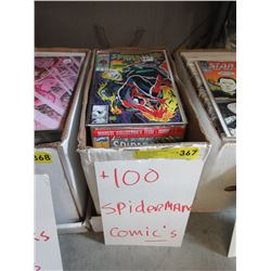 "100+ Assorted ""Spiderman"" Comics"