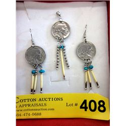 First Nations Indian Head Nickel & Quill Jewelry